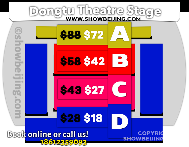 Dong Tu Theatre Seat Map & Discount Ticket Price List